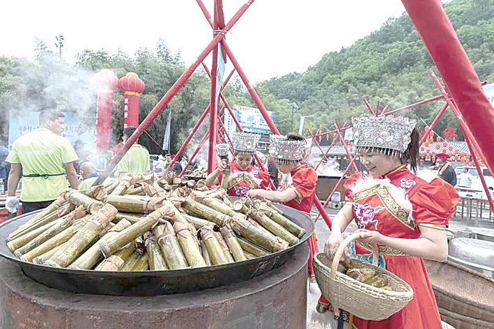 重渡沟:水乡狂欢共享竹宴