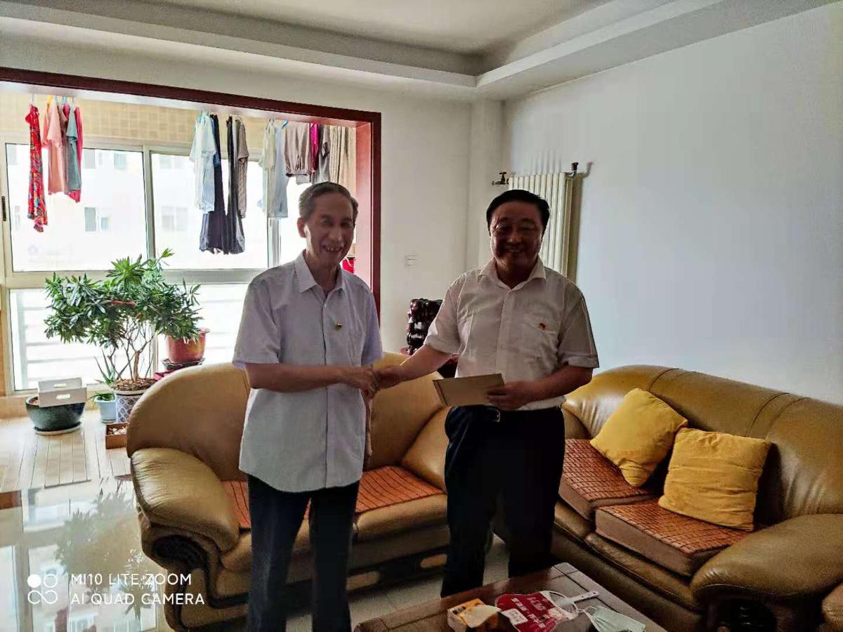 河南省民族宗教委建党百年前夕慰问老党员困难党员老干部
