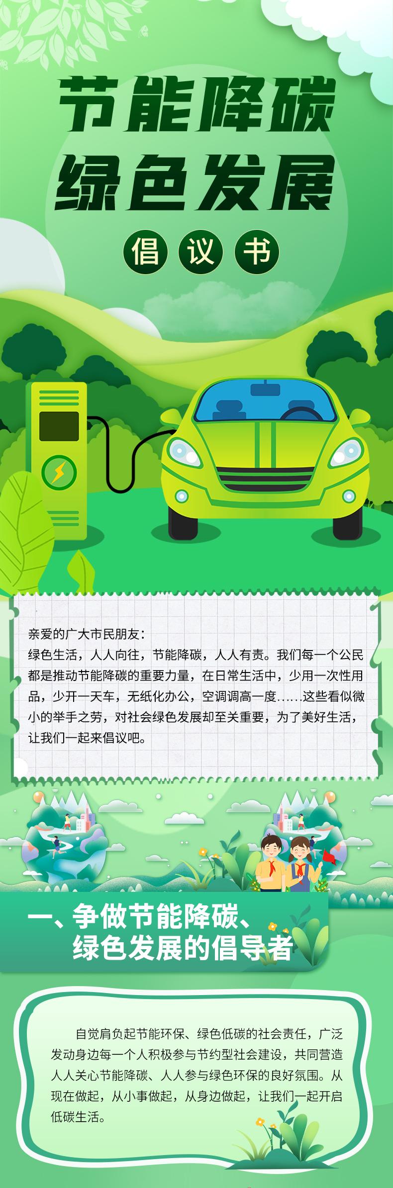 濮阳市发展改革委发布节能降碳、绿色发展倡议书