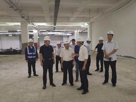 南阳市人防办领导班子赴南阳火车站广场地下空间利用项目调研