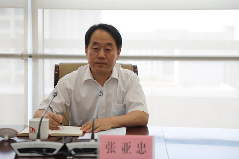 省政协副主席张亚忠一行到省教育厅进行专题调研