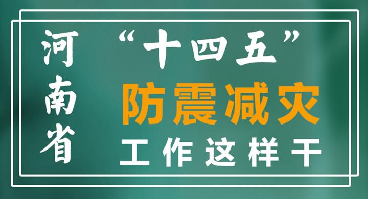 """海报丨12bet买球省""""十四五""""防震减灾工作这样干"""