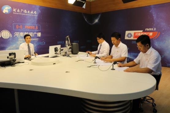 """厅党组成员、副厅长王承启参加河南广播电视台《对话民生》""""菜篮子""""直播"""