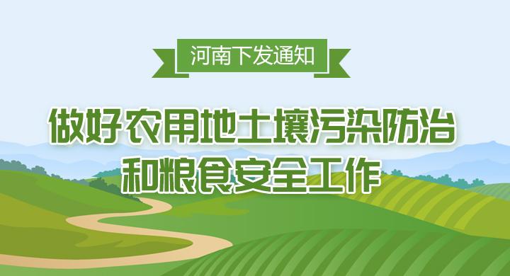圖解:河南下發通知 做好農用地土壤污染防治和糧食安全工作