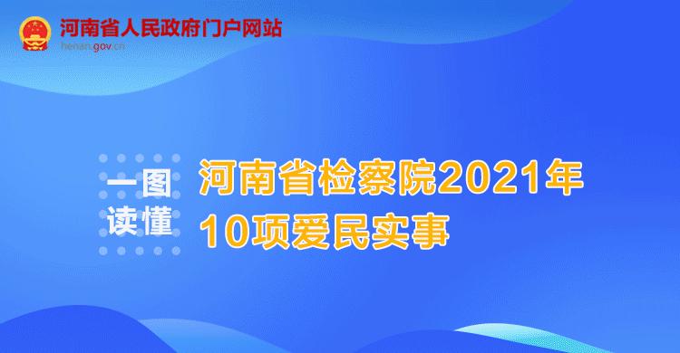 一图读懂丨河南省检察院2021年10项爱民实事