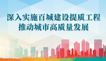 深入实施百城建设提质工程 推动城市高质量发展