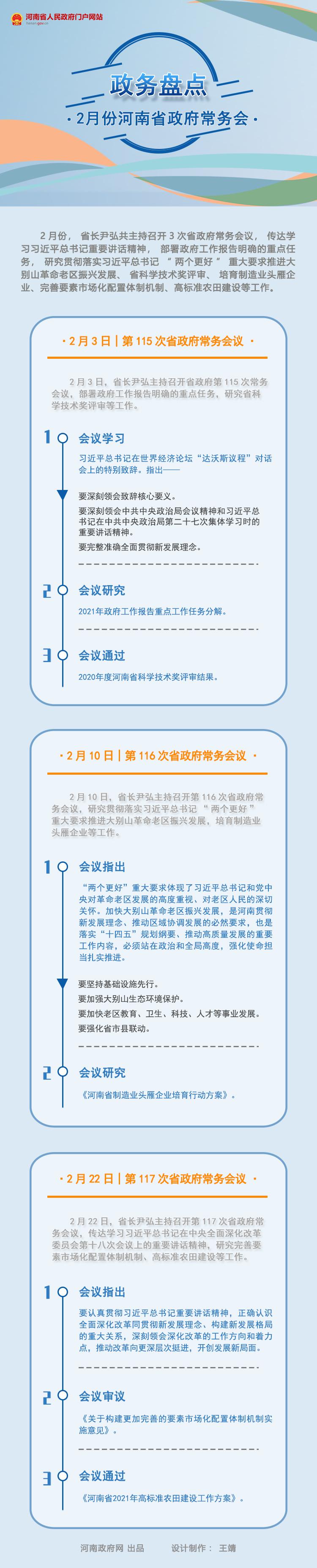 政務盤點 2021年2月份河南省政府常務會