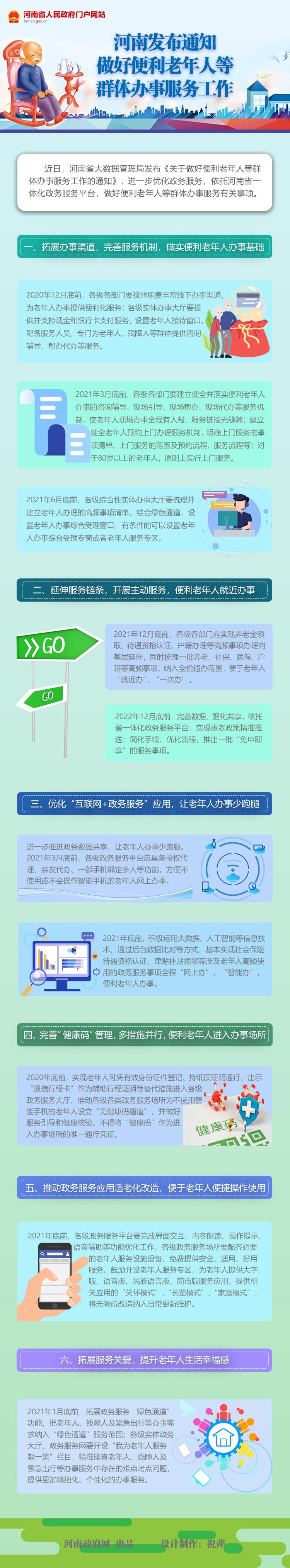 图解:河南发布通知 做好便利老年人等群体办事服务工作