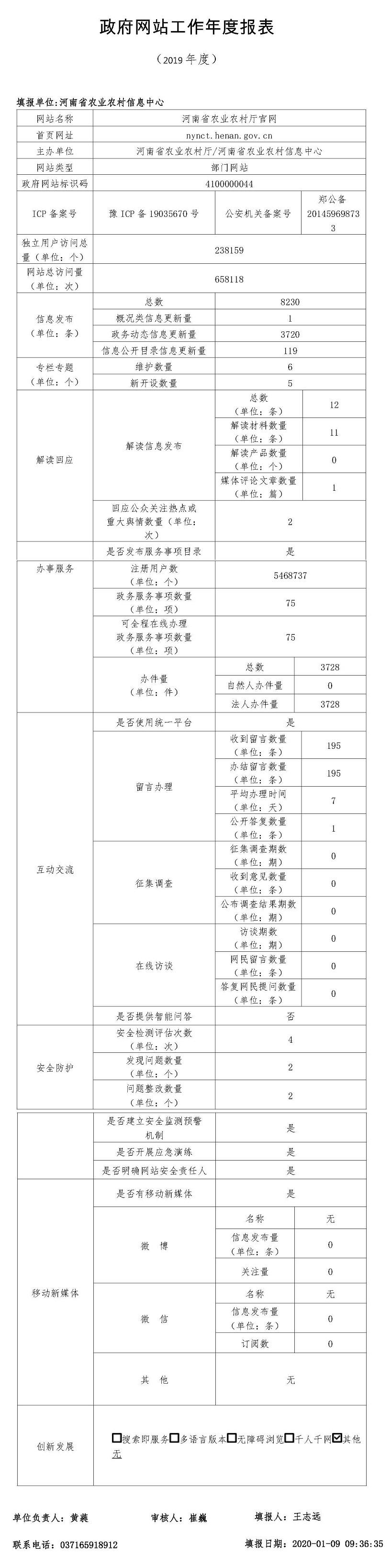 2019年河南省农业农村厅政府网站年度工作报表.jpg