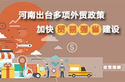 图解:河南出台多项外贸政策 加快贸易强省建设